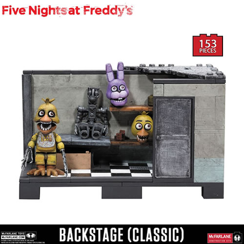 McFarlane Building Sets - Five Nights At Freddy's - Medium Set - Classic Series Backstage